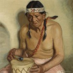Ernest Martin Hennings, Taos Pueblo Indian, John Martinez, oil, 19 x 19, Bonhams.