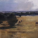 Douglas Fryer, Corbett Ranch, Early Morning, oil, 18 x 36.