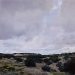 Douglas Fryer, East Desert, oil, 24 x 24.