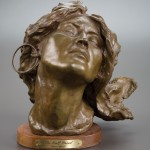 Grant Speed, Half Breed, bronze, 10 inches, Heritage Auction.