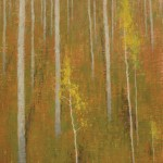 David Grossmann, Hillside with Golden Leaves, oil, 16 x 12.