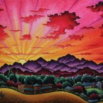 Kim Wiggins, Riding Beneath a Santa Fe Dawn, oil, 36 x 48.