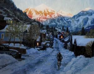 Kelly Kotary, Heading Home, oil, 24 x 30.