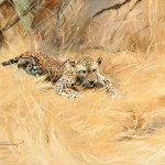 Wilhelm Kuhnert, Leopard, oil 19 x 26, Jackson Hole Art Auction.