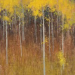 David Grossmann, Laden with Orange Leaves, oil, 10 x 8.