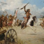 Z. S. Liang, The Charge of Crazy Horse on Fort Laramie, oil, 40 x 60, Coeur d'Alene Art Auction.