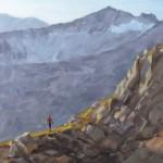 Dan Oakleaf, Alpine Approach, oil, 16 x 16.