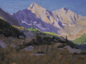 Dan Oakleaf, Blanca Sunrise, oil, 9 x 12.