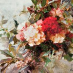 Richard Schmid, Carnations oil on board 8 x 12 in, Jackson Hole Art Auction.