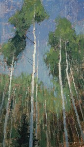David Grossmann, So Tall, oil, 12 x 7.