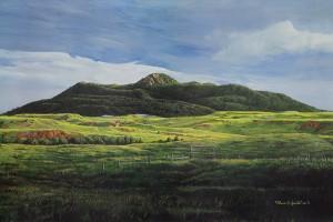 Bruce Speidel, Black Hills Summer (Inyan Kara Mountain), acrylic, 24 x 36.