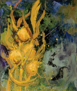 Judith Gebhard Smith, Kelp Dream, encaustic, 12 x 10.