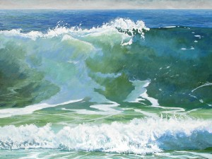Keith Wilkie, Surfside, acrylic, 36 x 48.