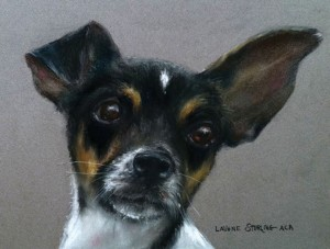 LaVone Sterling, My Buddy, pastel, 10 x 12.