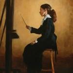 Pauline Roche, The Student, oil, 20 x 16.