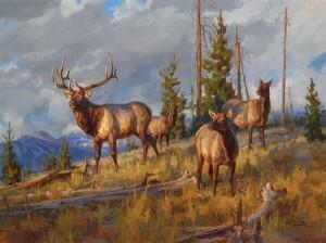 Chad Poppleton, High Ground, oil, 30 x 40.