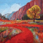 Erin Hanson, Hop Valley, Zion National Park, oil, 30 x 40.