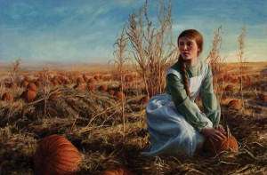 Jeremy Manyik, Fall Gathering, oil, 24 x 36.