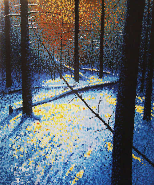 Jim Pescott, When Trees Dance, acrylic, 36 x 30.