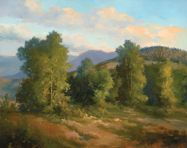 Grace Schlesier, Warm Summer's Eve, oil, 16 x 20.