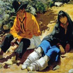 Walter Ufer, Jim and His Daughter, oil, 40 x 50. National Cowboy & Western Heritage Museum.