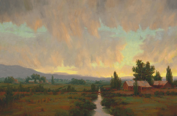 Roger Williams, Grandpa's House, oil, 24 x 36.