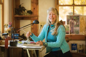 Star Liana York at her studio in Abiquiu, NM.