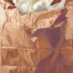 Sarah van der Helm, Magnolia in Brown Paper Sack, oil, 30 x 24.