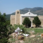 Author's photo of San Francisco de Asis Mission Church, Golden, NM