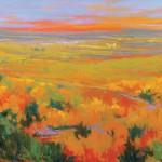 Teruko Wilde, Day's End, oil, 30 x 40.
