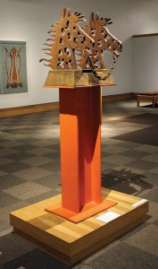 Robert L. (Bob) Haozous, Enchained Horses, steel, 69 x 21 x 25, National Cowboy & Western Heritage Museum.