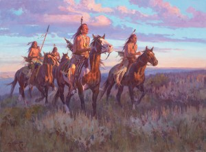 Jim Norton, Buffalo on the Horizon, oil, 24 x 32. (western show)