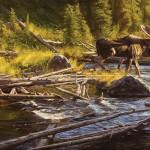 Dustin Van Wechel, Just Passing Through, oil, 24 x 48.