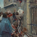 N.C. Wyeth, And They Did Their Trading from the Top of Battlemented Walls, oil, 38 x 26. Estimate $500,000-$700,000.