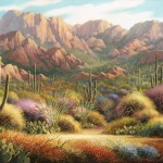 Charles Pabst, Superstition Vista, oil, 48 x 72.