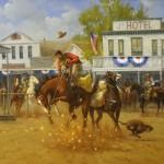 Gary Lynn Roberts, The Prankster, oil, 30 x 44.