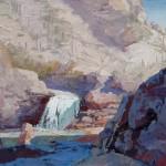Lou Heiser, Tanque Verde Falls, oil, 24 x 30.