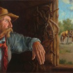 Carol Lee Thompson, A Cowboy's Thoughts, oil, 16 x 28.