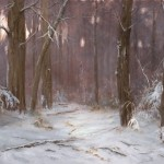 Deborah Paris, Winter Evening, oil, 36 x 48.