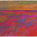 Spirit Path, New Day, Red Rock Variation: Lake Superior Landscape (1990), acrylic/pastel on paper, 22 x 30. Collection Minnesota Museum of American Art.
