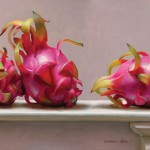 Grace Kim, Dragon Fruit, oil, 10 x 18.