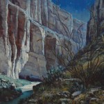 Mark Haworth, Santa Elena Nocturne, oil, 20 x 24.