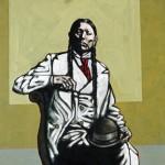 Nocona Burgess, King of the Republic, acrylic, 48 x 36.