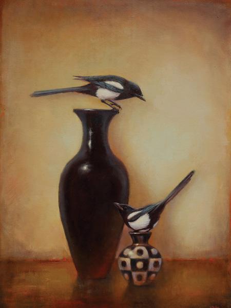 Lori McNee, Yin Yang, oil, 40 x 30.