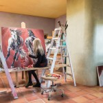 Ethelinda at her studio in Sante Fe, NM.