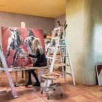 Ethelinda at her studio in Sante Fe, NM.