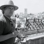 0512_Nelson_painting-in-assisi_BW