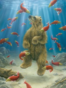 Robert Bissell, The Swimmer, oil, 48 x 36.