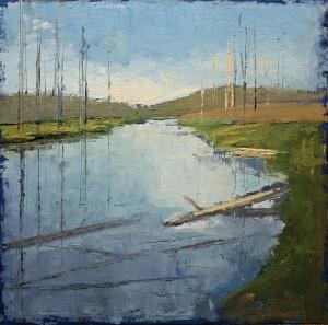Shanna Kunz, Island Park, oil, 14 x 14.