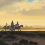 Nicholas Coleman, Toilers of the Trails, oil, 30 x 50.